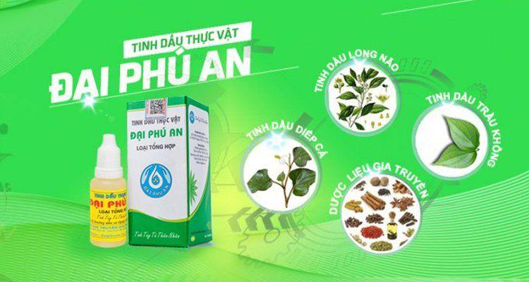 Tinh dầu thực vật Đại Phú An dứt điểm bệnh xoang