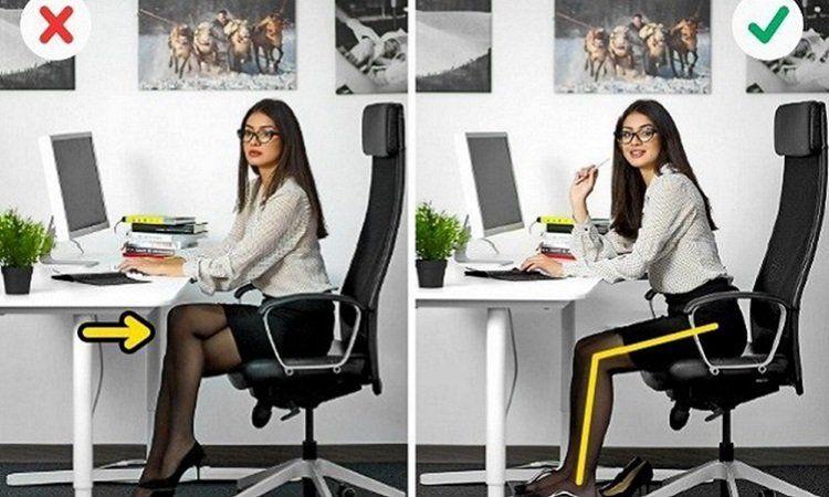 Ngồi làm việc sai tư thế cũng là một trong những nguyên nhân đau vai gáy (Nguồn ảnh: Internet)