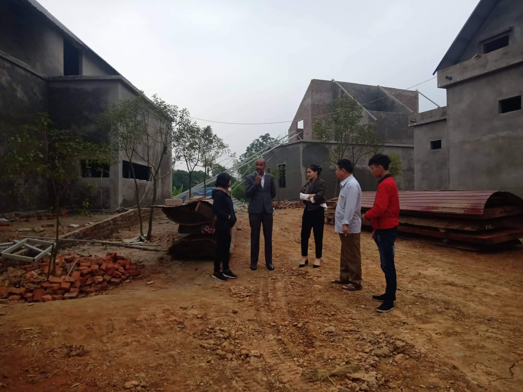 Công trường xây dựng Dai Phu An Heathcareand Reorts.