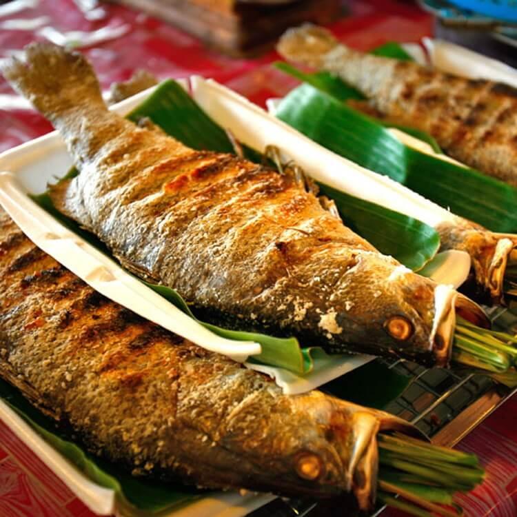 Món cá nướng Pa Pỉnh Tộp thơm ngon, hấp dẫn.