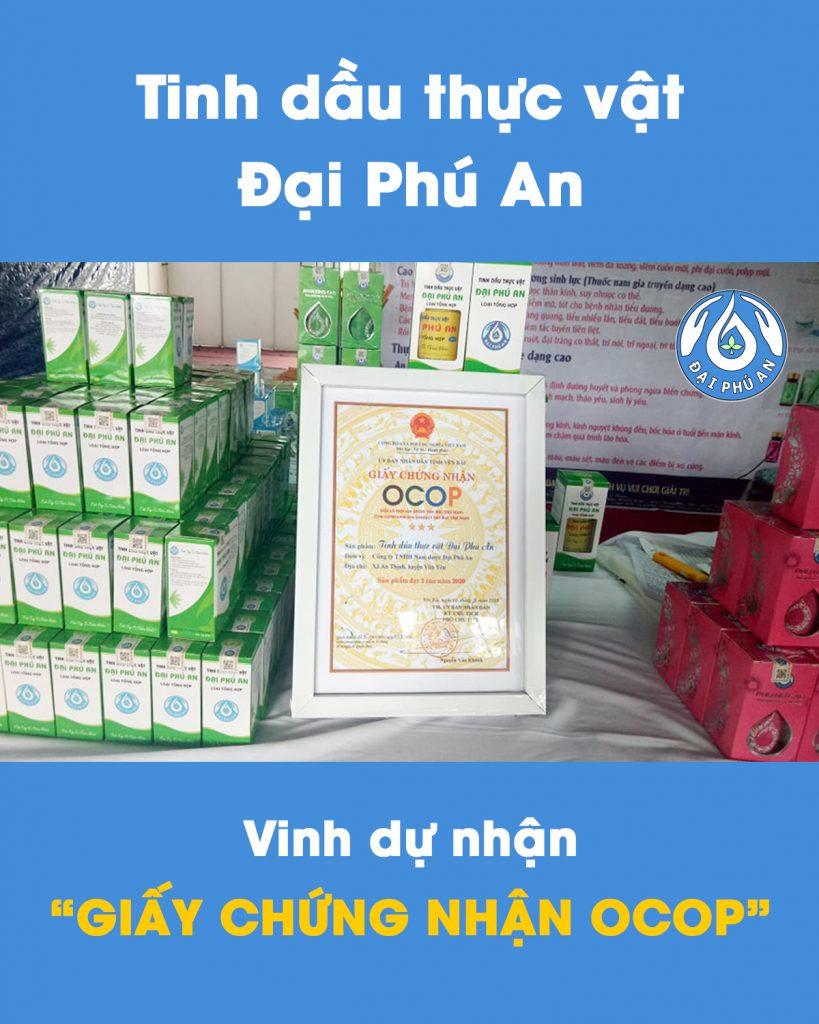 Tinh dầu thực vật Đại Phú An nhận giấy chứng nhận OCOP