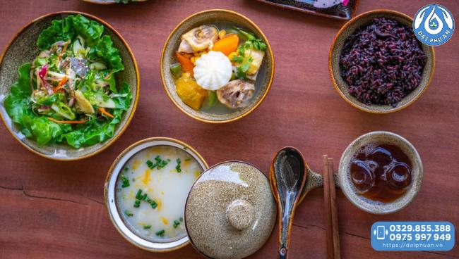 Ẩm thực tại Khu nghỉ dưỡng và Chăm sóc sức khỏe Đại Phú An