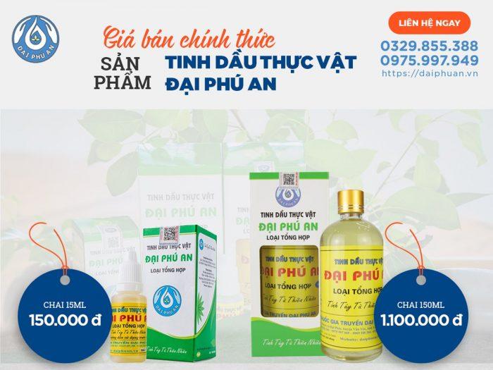 Giá Tinh dầu thực vật Đại Phú An